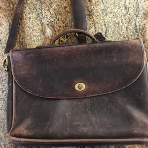 Vintage coach small briefcase laptop carrier
